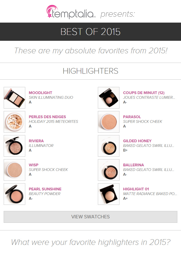 Top 10 of 2015: Best Highlighters