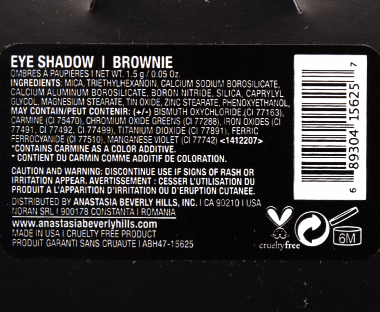 Anastasia Brownie Eyeshadow