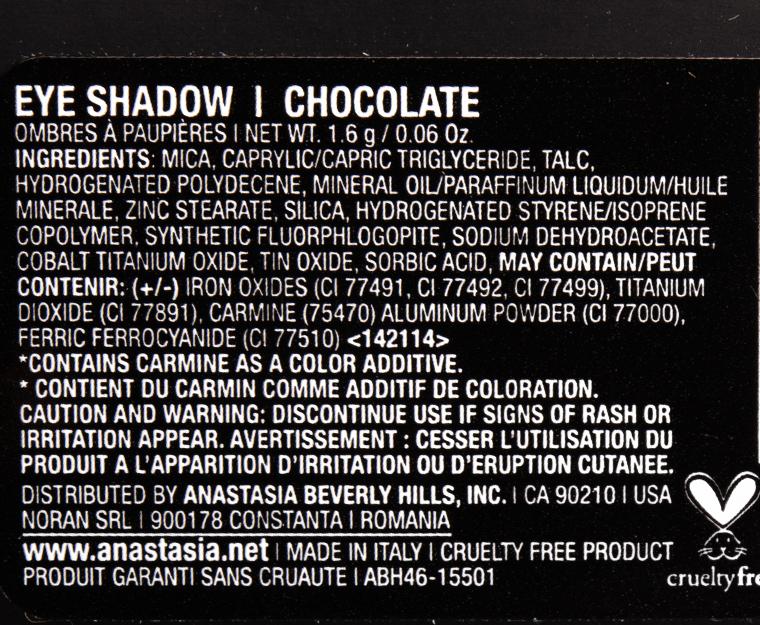 Anastasia Chocolate Eyeshadow