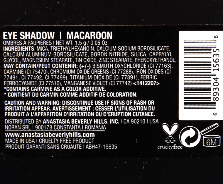 Anastasia Macaroon Eyeshadow