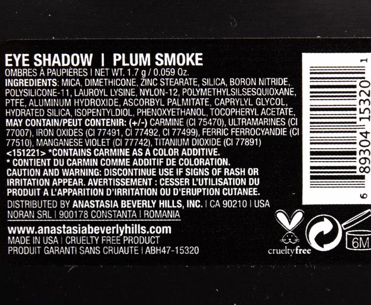 Anastasia Plum Smoke Eyeshadow
