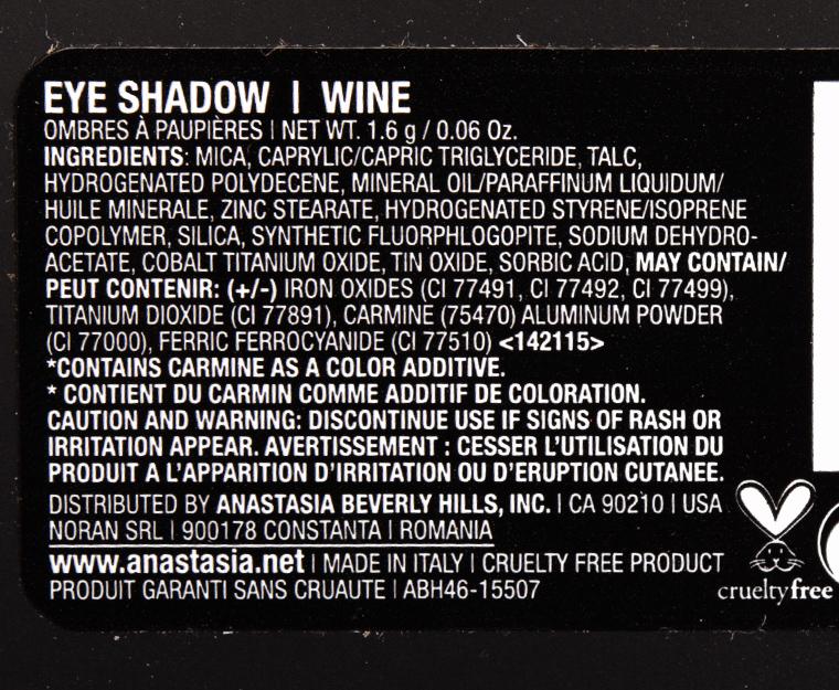 Anastasia Wine Eyeshadow
