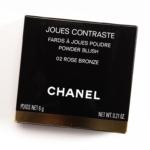 Chanel Rose Bronze Joues Contraste Blush