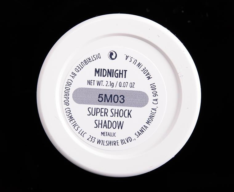 ColourPop Midnight Super Shock Shadow