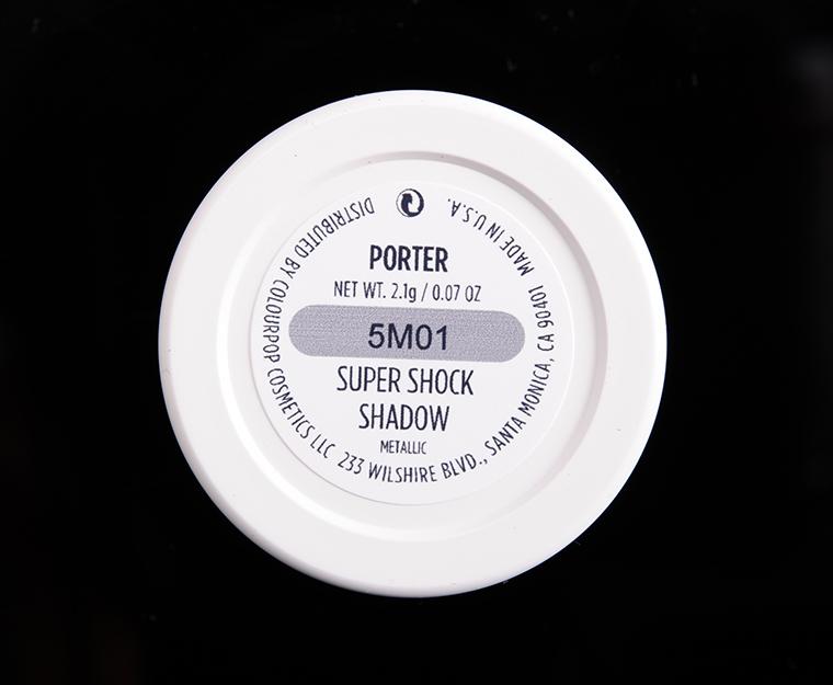 ColourPop Porter Super Shock Shadow