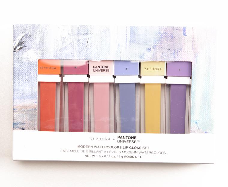 Sephora + Pantone Universe Modern Watercolors Lipgloss Set