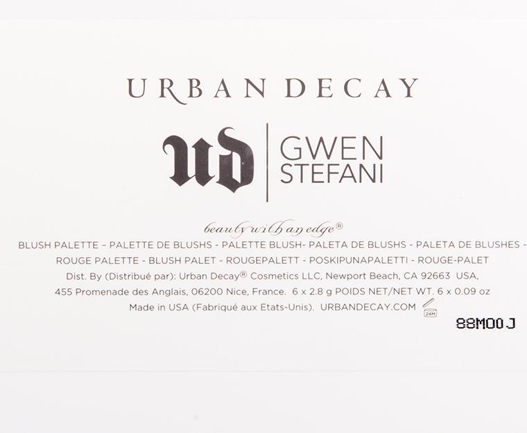 Urban Decay x Gwen Stefani Blush Palette