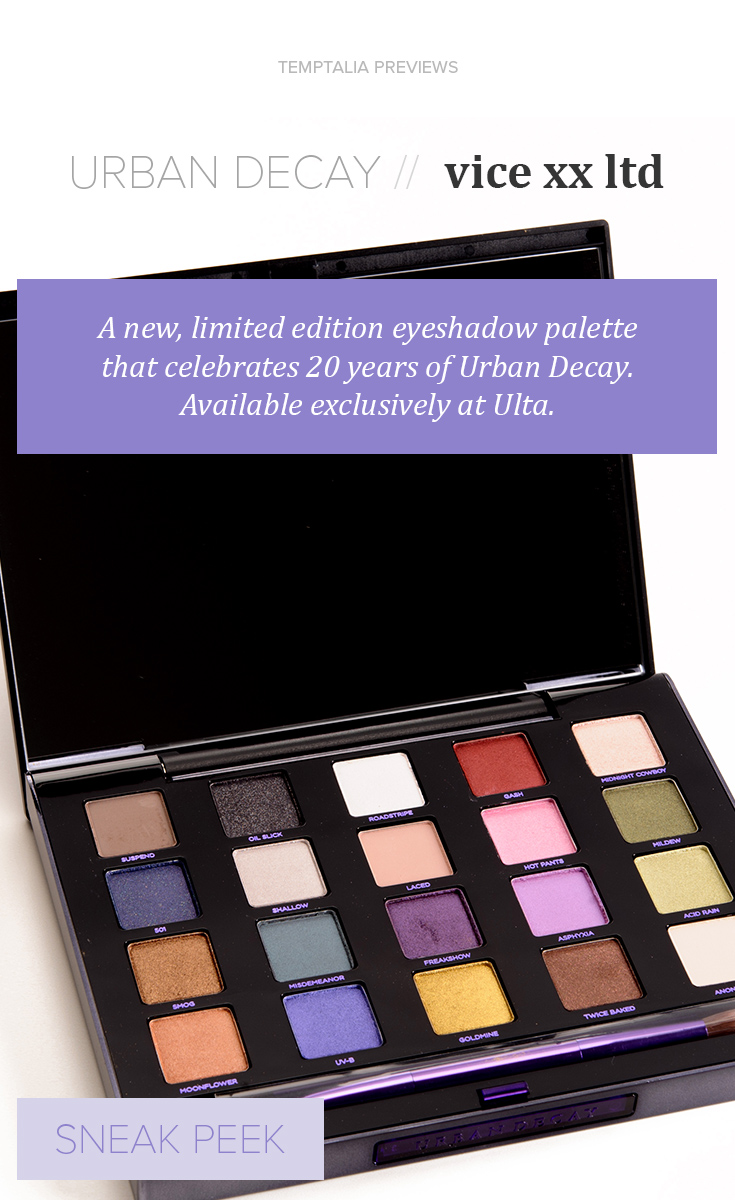 Sneak Peek: Urban Decay XX Vice LTD Reloaded Palette Photos