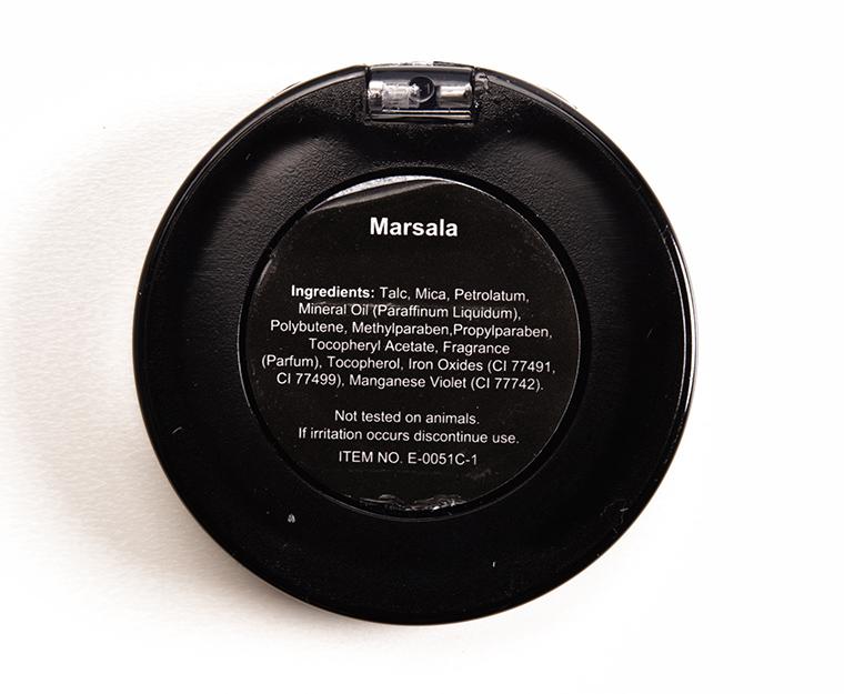 City Color Marsala Shimmer Shadow