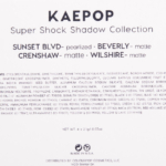 Colour Pop KaePop Super Shock Shadow Quad