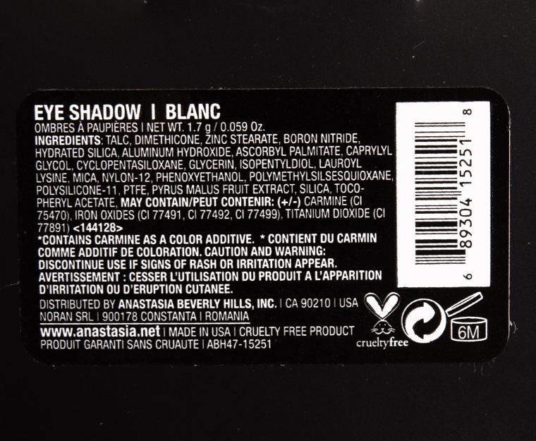 Anastasia Blanc Eyeshadow