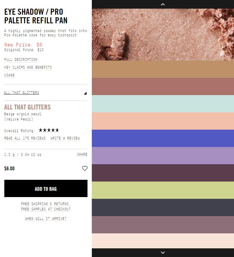 MAC Eyeshadow Pans: Now $6