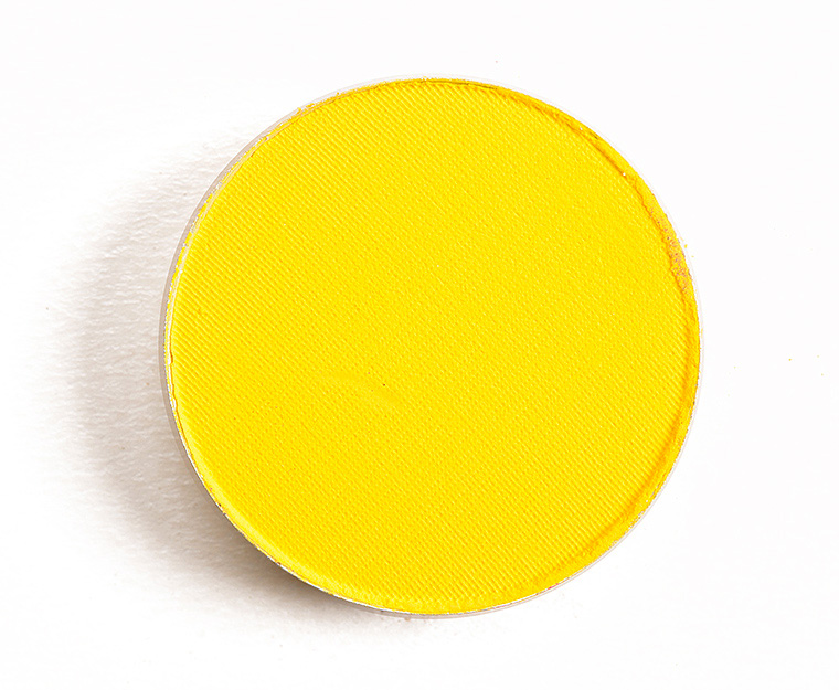 mac chrome yellow eyeshadow review & swatches