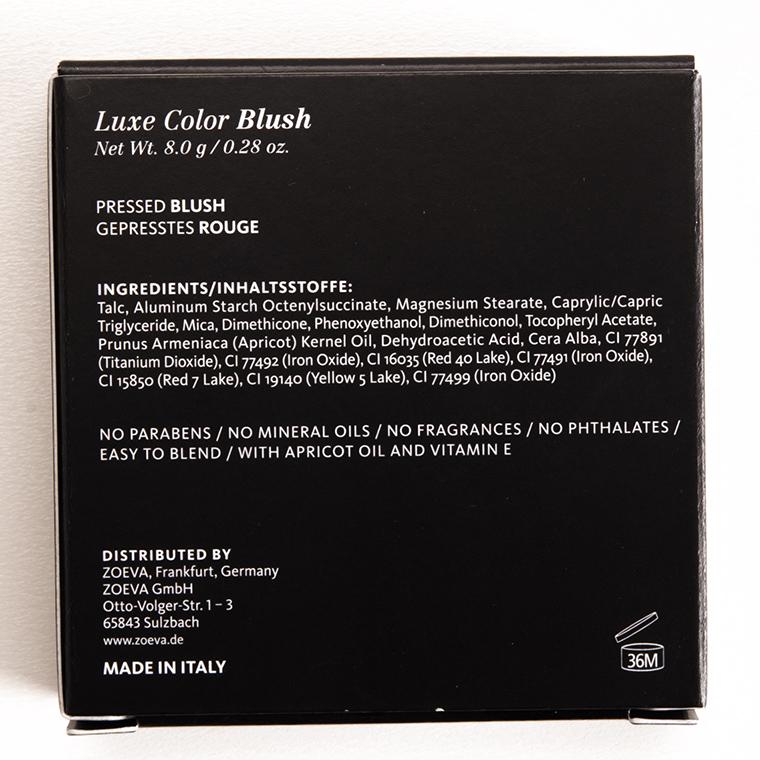 Zoeva Shy Beauty Luxe Color Blush