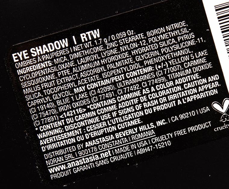 Anastasia RTW Eyeshadow