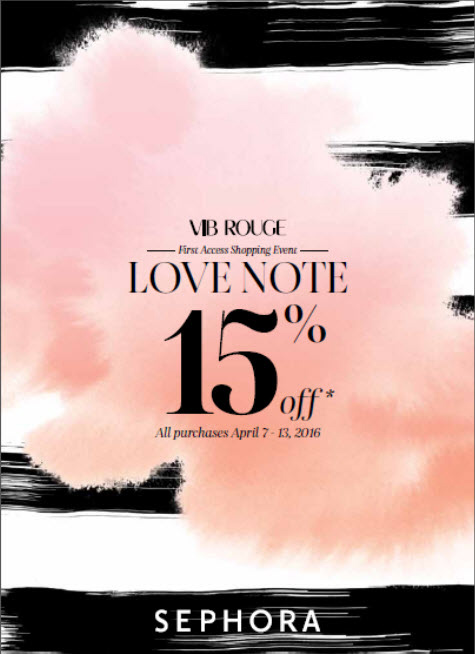 Sephora Love Note Event Spring 2016