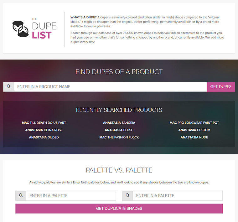 The Dupe List -- May 2016 Updates