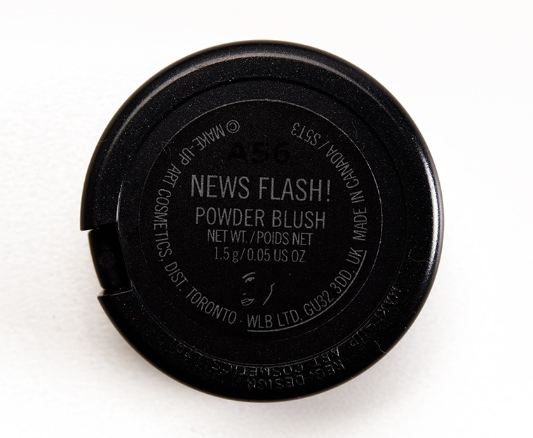 MAC News Flash! Blush
