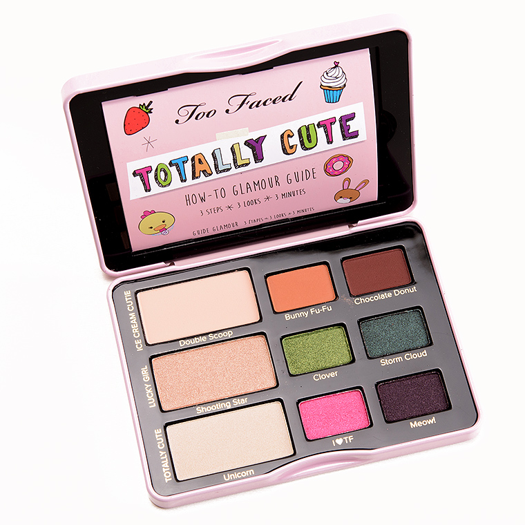 too faced totally cute eyeshadow palette review photos. Black Bedroom Furniture Sets. Home Design Ideas