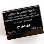 Chanel Rouge Contraste (132) Illusion d'Ombre Velvet Long Wear Luminous Matte Eyeshadow