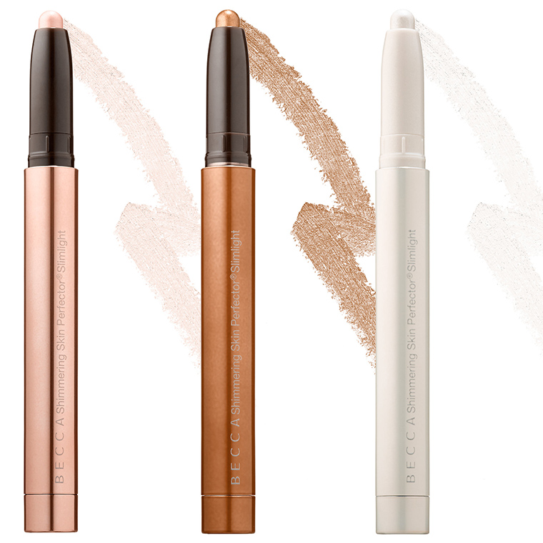 Becca Champagne Splits + Shimmering Skin Perfector Slimlights for July 2016