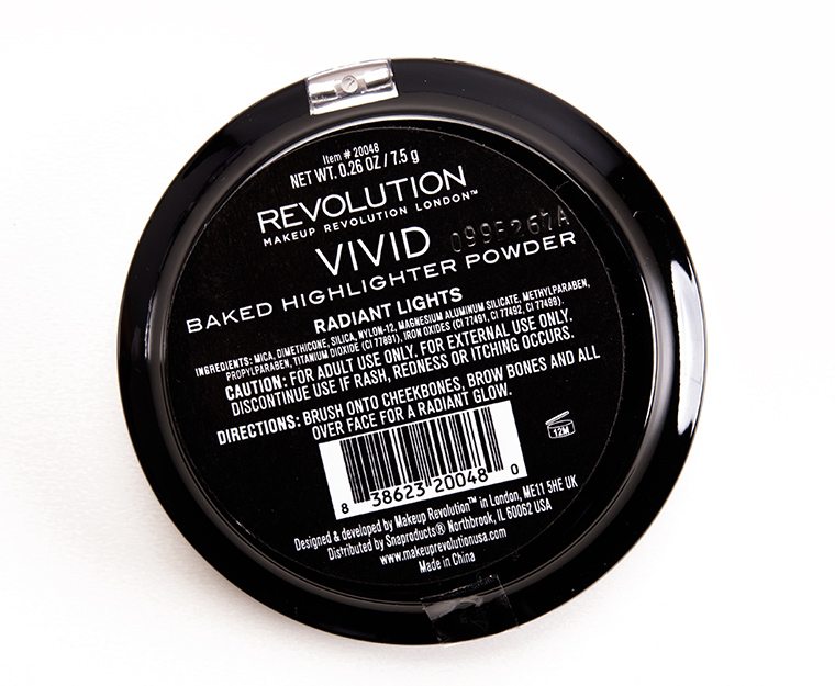 Makeup Revolution Radiant Lights Vivid Baked Highlighter Powder