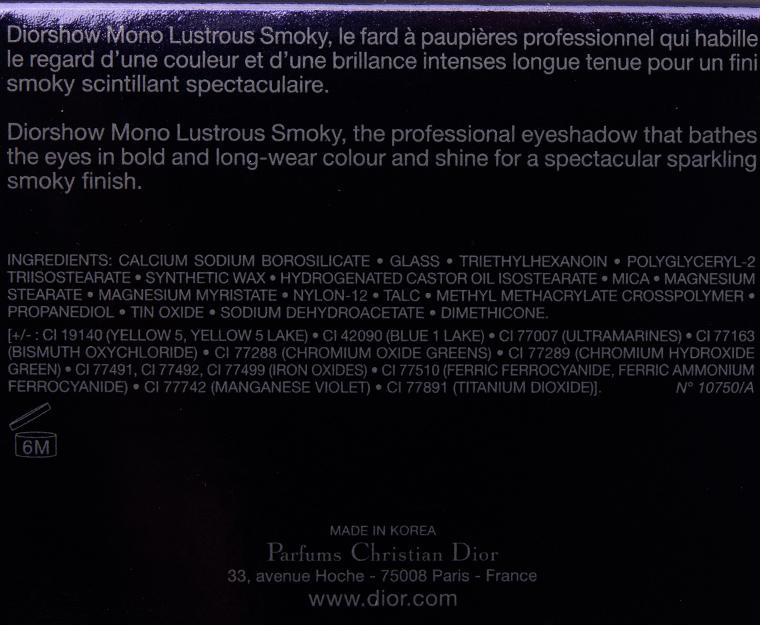 Dior Gravity (094) Diorshow Mono Lustrous Smoky Eyeshadow