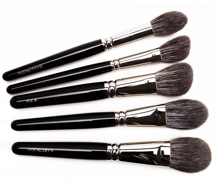 Hakuhodo Brushes:  B5521, G511, B512, G5545, B505