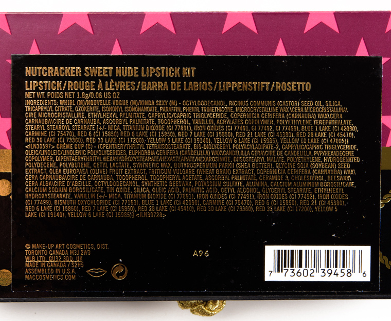 MAC Nude Nutcracker Sweet Lipstick Kit