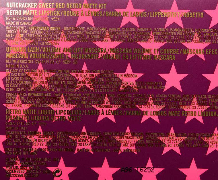 MAC Nutcracker Sweet Red Retro Matte Lip Kit