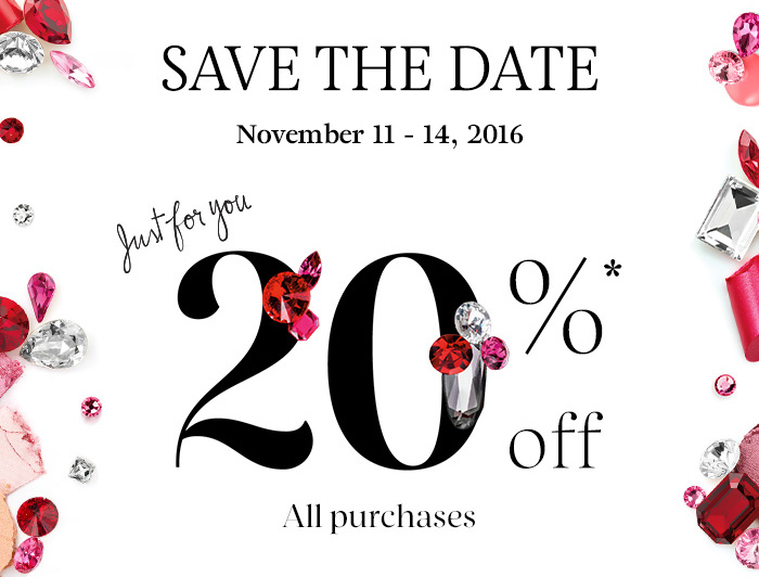 Sephora 20% Off Sale + Coupon Code for VIBs for Holiday 2016