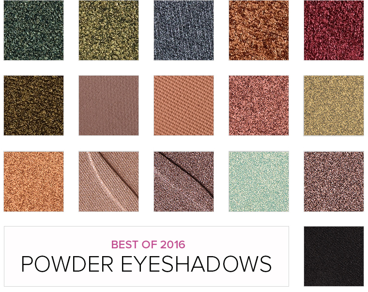 Top 16 of 2016: Powder Eyeshadows $10 & Under
