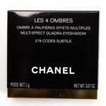 Chanel Codes Subtils (278) Les 4 Ombres Multi-Effect Quadra Eyeshadow