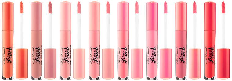 ผลการค้นหารูปภาพสำหรับ Too Faced Sweet Peach Creamy Peach Oil Lip Gloss