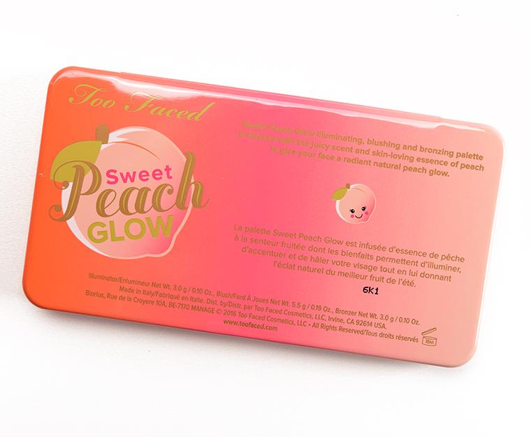 ผลการค้นหารูปภาพสำหรับ Too Faced Sweet Peach GLOW PEACH-INFUSED HIGHLIGHTING PALETTE