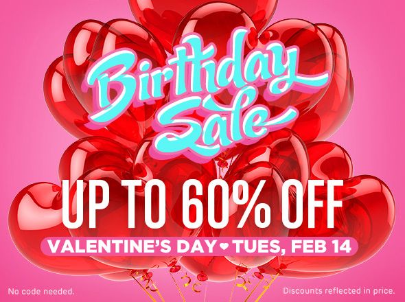 Sugarpill Birthday Sale for Valentine's Day 2017