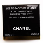 Chanel Tweed Cherry Blossom Les Tissages de Chanel Blush Duo Tweed Effect