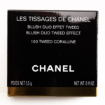 Chanel Tweed Coralline Les Tissages de Chanel Blush Duo Tweed Effect