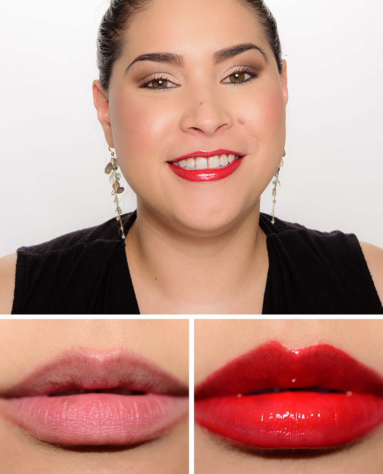 MAC Russian Red, Ruby Woo, Baby's A Vamp, Yellow Jacket