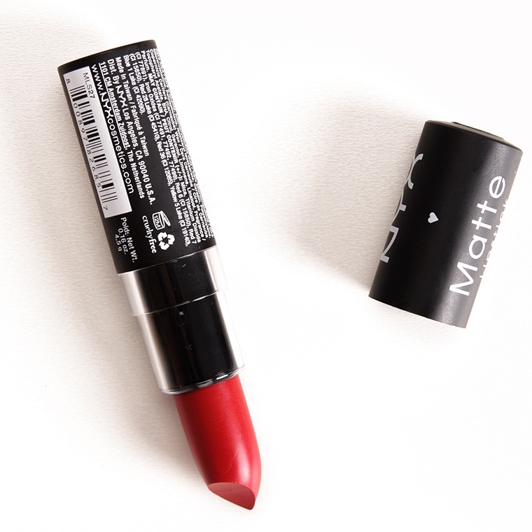NYX Bloody Mary, Perfect Red, Eden Matte Lipsticks ...