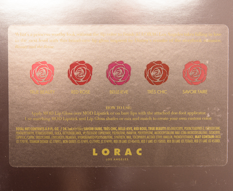 LORAC Beauty and the Beast Lip Gloss Collection Review, Photos ...