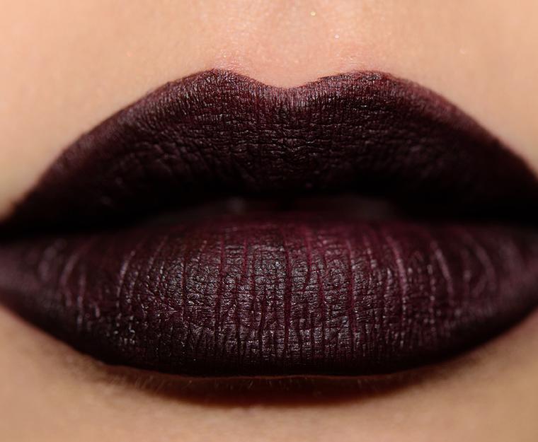 Sneak peek nars powermatte lip pigments photos swatches for Black paint swatch