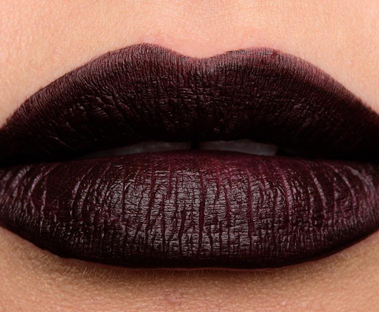 Nars rock with you paint it black powermatte lip for Black paint swatch