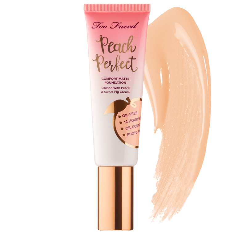 Too Faced Snow Peach Perfect Comfort Matte Foundation Review Swatches