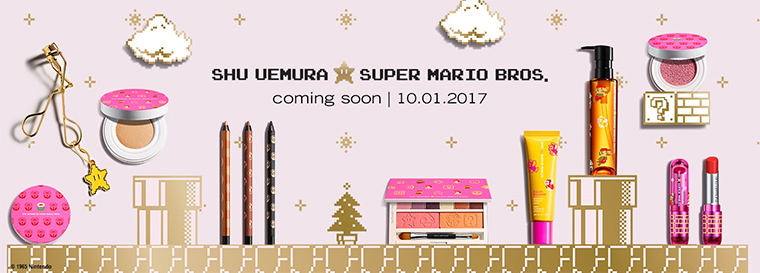 shu uemura x Super Mario Collection for Holiday 2017