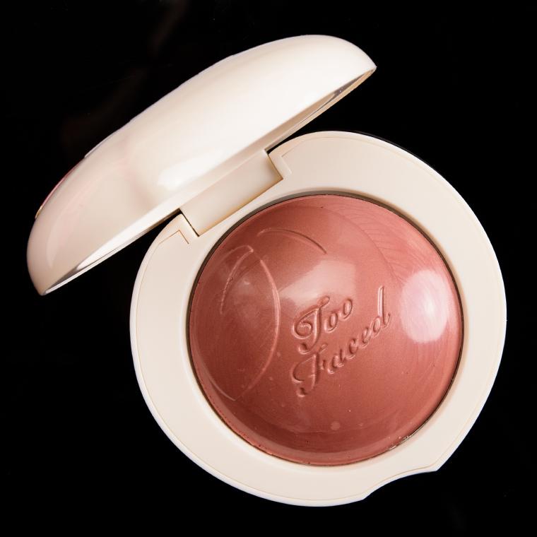 Too Faced Spiced Peach Peach My Cheeks Melting Powder Blush Review, Photos, Swatches