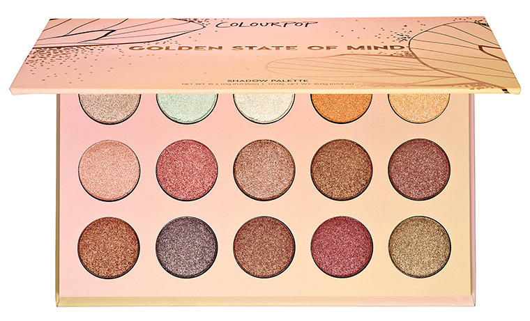 Colourpop Golden State Of Mind Shadow Palette At Sephora