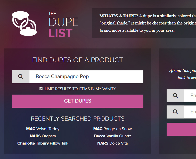 The Dupe List