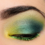 Make Up For Ever Bright Green & Teal Look | Look Details