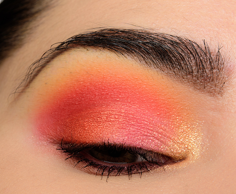 A Bright Pink Orange Eye With Make Up For Ever Artist Color